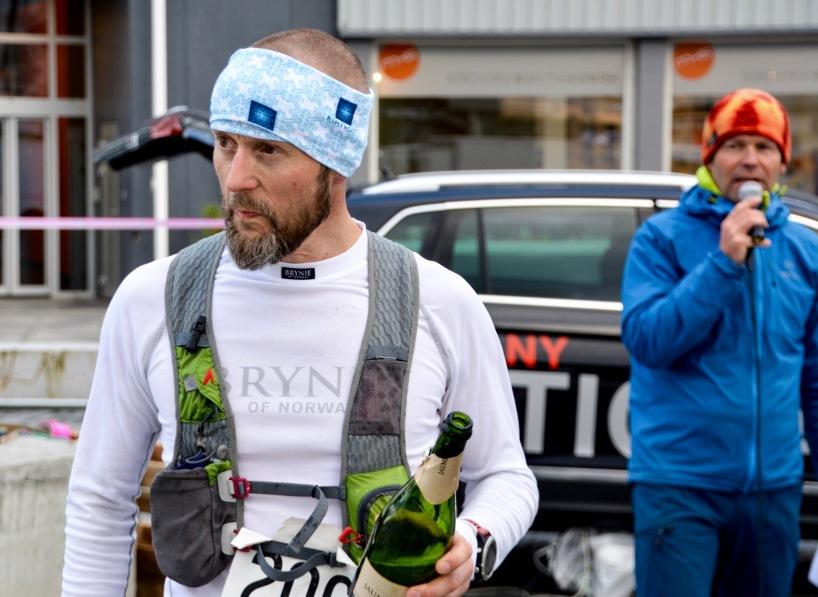 Lofoten UltraTrail 2016, Finishline - winner